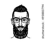 portrait of bearded man for...   Shutterstock .eps vector #493883794