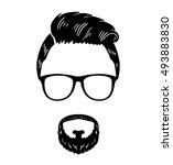 barbershop hipster beard...   Shutterstock .eps vector #493883830