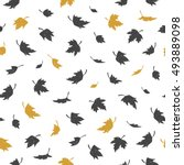 vector seamless pattern with... | Shutterstock .eps vector #493889098