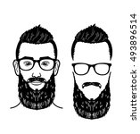 bearded man layered image... | Shutterstock .eps vector #493896514