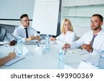 seminar of employees | Shutterstock . vector #493900369