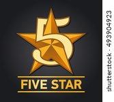 five star sign. vector... | Shutterstock .eps vector #493904923