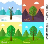 12 months of the year. weather... | Shutterstock .eps vector #493914580