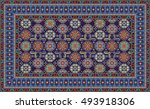 colorful mosaic rug with...   Shutterstock .eps vector #493918306