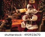Santa Using A Cell Phone