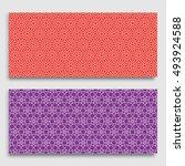 seamless horizontal borders...   Shutterstock .eps vector #493924588