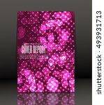 template design for cover.... | Shutterstock .eps vector #493931713
