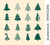 hand drawn cartoon christmas... | Shutterstock . vector #493932346