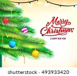 christmas background with... | Shutterstock .eps vector #493933420