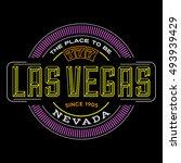 las vegas  nevada linear logo... | Shutterstock .eps vector #493939429