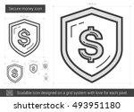 secure money vector line icon...