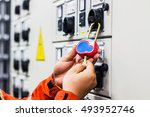 lockout tagout   electrical... | Shutterstock . vector #493952746