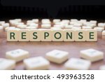 Small photo of RESPONSE word on block concept