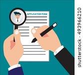 businessman or job seeker fill... | Shutterstock .eps vector #493966210