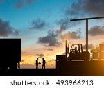 silhouette inspector are... | Shutterstock . vector #493966213