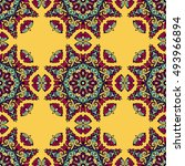 seamless pattern ethnic style.... | Shutterstock . vector #493966894