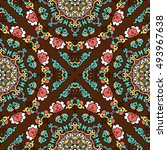 seamless pattern ethnic style.... | Shutterstock . vector #493967638