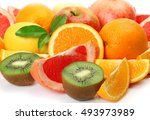ripe fruit for a healthy diet   Shutterstock . vector #493973989