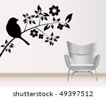 wall decoration | Shutterstock .eps vector #49397512