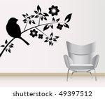 wall decoration   Shutterstock .eps vector #49397512