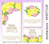 romantic invitation. wedding ... | Shutterstock . vector #493977139
