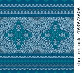 vector ethnic pattern in style... | Shutterstock .eps vector #493978606