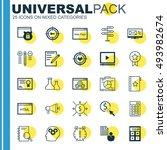 set of 25 universal icons on... | Shutterstock .eps vector #493982674