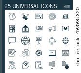 set of 25 universal icons on... | Shutterstock .eps vector #493985320