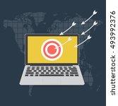 cyber crime ddos dos denial of...   Shutterstock .eps vector #493992376