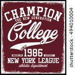 college t shirt graphic | Shutterstock .eps vector #494010004
