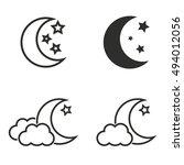 moon star vector icons set....   Shutterstock .eps vector #494012056