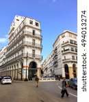 Small photo of ALGIERS, ALGERIA - SEP 24, 2016:French colonial buildings in Algiers Algeria.Buildings are being renovated by Algerian government.