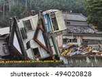 reality of the tsunami disaster ... | Shutterstock . vector #494020828