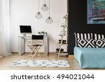 new style black and white room... | Shutterstock . vector #494021044