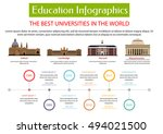 education infographic placard... | Shutterstock .eps vector #494021500