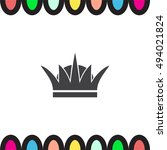 crown sign vector icon. | Shutterstock .eps vector #494021824