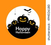 halloween pumpkin background | Shutterstock .eps vector #494026180