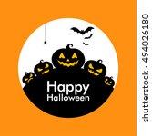 halloween pumpkin background | Shutterstock .eps vector #494026180