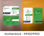 corporate business card print...   Shutterstock .eps vector #494029903