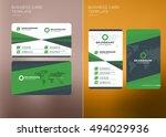 corporate business card print... | Shutterstock .eps vector #494029936