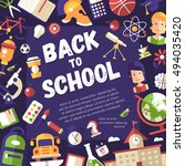 back to school postcard... | Shutterstock . vector #494035420
