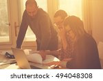 young group of people... | Shutterstock . vector #494048308