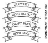 craft beer brewery shop market... | Shutterstock .eps vector #494055400
