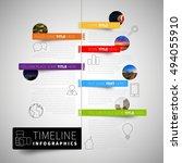 infographic timeline report... | Shutterstock .eps vector #494055910