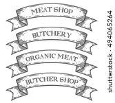 meat shop market butchery... | Shutterstock .eps vector #494065264