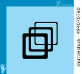 photo archive icon. vector... | Shutterstock .eps vector #494070760