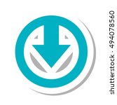 download arrow symbol | Shutterstock .eps vector #494078560