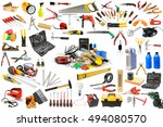 collection of tools necessary... | Shutterstock . vector #494080570
