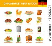 german annual oktoberfest... | Shutterstock .eps vector #494083174