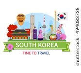 south korea national cultural... | Shutterstock .eps vector #494083738